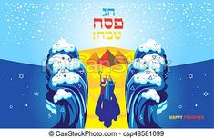 "Passover banner. translation from hebrew: ""happy passover!""... stock illustration - Search Vector Clipart, Drawings, and EPS Graphics Images - csp48581099"
