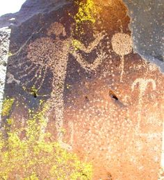 This Parrish Gorge petroglyph panel is hypothesized to be a depiction of a post-mortem animal funeral and propitiation ceremony. See Figure 3, Animal Funerals and Post-mortem Propitiation Rites.