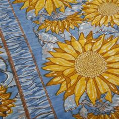 I pinned this Sunflower Tablecloth in Yellow and Blue from the Summer in Tuscany event at Joss and Main!