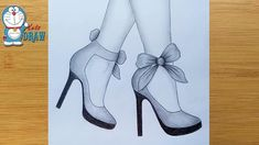 Mar 2020 - How to draw feet with high heels for beginners Pencil Sketches Easy, Pencil Drawings For Beginners, Pencil Sketch Drawing, Girl Drawing Sketches, Cute Easy Drawings, Girly Drawings, Art Drawings Sketches Simple, Pencil Art Drawings, Sketch Art