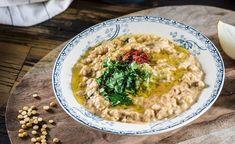 מתכון: מסבחה של אפונה צהובה Hummus, Risotto, Food Porn, Healthy Eating, Cooking Recipes, Ethnic Recipes, Eating Healthy, Healthy Nutrition, Clean Foods