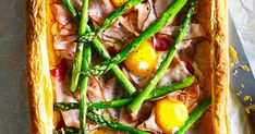 This recipe for a ham, egg and asparagus tart is a great option for a midweek meal for the family, or to make for a picnic in the summer. English asparagus is in season from 24 April until mid-June.