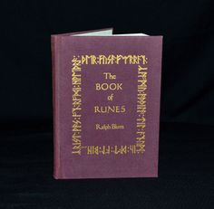 """The Book of Runes"" by Ralph Blum - an early 1982, 2nd edition printing. The illustrated guide explores the history of Runes and the art of casting & interpreting Runes yourself. Beautifully bound in wine colored cloth with gold embossing. Etsy.com/shop/CosmicLibrary"