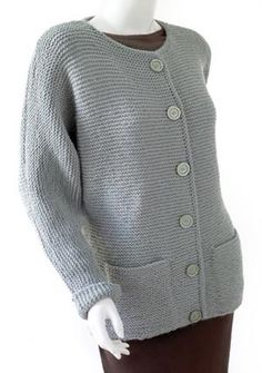 Knit Oh-So-Simple Cardigan in Lion Brand Wool-Ease. Knit Oh-So-Simple Cardigan in Lion Brand Wool-Ease. Discover more Patterns by Lion Brand at LoveKni Ladies Cardigan Knitting Patterns, Cardigan Au Crochet, Cardigan En Maille, Knit Cardigan Pattern, Knitting Patterns Free, Knit Patterns, Free Knitting, Free Pattern, Sweater Patterns