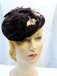 b6f1d4618782 1950s 50s Beret Vintage Forward Tilt w/Autumn by bonitalouise, $35.00  Vintage Bags,