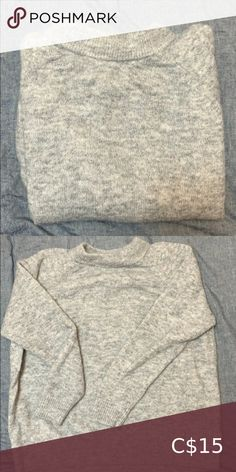H&M Sweater Brand Name: H&M Size: M Colour: Grey Materials: Polyamide / Acrylic / Mohair / Wool / Elastane Care Instructions: - Handwash or Machine wash in wool program. H&M Sweaters Crew & Scoop Necks M Color, Brand Names, Scoop Neck, Sweaters For Women, Buy And Sell, Wool, Grey, Closet, Stuff To Buy