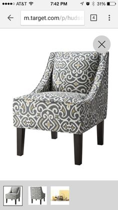 Target patterned chair
