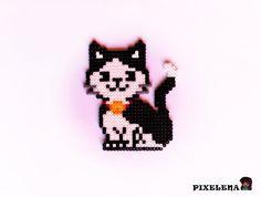 Cat perler beads by PixelenaMV on deviantART