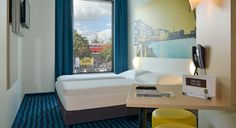 Zimmer mit französischem Bett im B&B Hotel Münster-Hafen