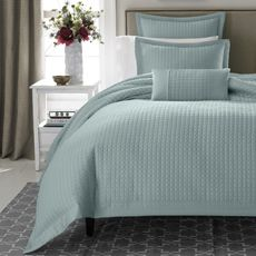 Real Simple® Retreat Duvet Cover, 100% Cotton Sateen, 300 Thread Count - Azure - Bed Bath & Beyond