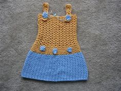 Hi!!!! As I told you, I wanted to write down the Yellow-Blue Dress Pattern... so yesterday I sat down and spend a while working on that... ...