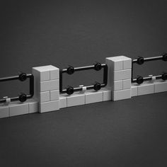 celebration of new LEGO® parts continues with another post by Jonas Kramm, who now turns his attention to creating beautiful fences. Legos, Lego Burg, Lego Universe, Lego Machines, Lego Furniture, Lego Wall, Lego Trains, Lego Modular, Lego Room