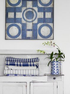 Blue White/ for beach cottage