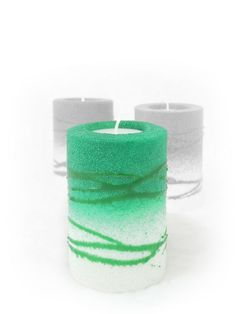 Rolle Grün Candle Power, Handmade Candles, Pillar Candles, Shot Glass, Candle Holders, Lights, Tableware, Green Candles, Candle Art