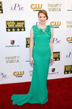 Actress Jessica Chastain attends the 19th Annual Critics' Choice Movie Awards at Barker Hangar on January 16, 2014 in Santa Monica, Californ...