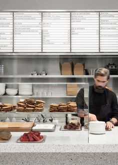 """""""It needed to be functional, a workhorse"""": Arket's in-house team on its brand identity Cafe Deli, Cafe Restaurant, Modern Restaurant, Cafe Bar, Italian Interior Design, Restaurant Interior Design, Interior Shop, Menu Signage, Architecture Restaurant"""
