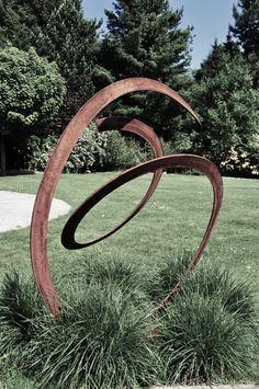 Garden - sculpture in corten / Kunstobject voor in de tuin in ...