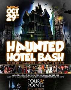 HAUNTED HOTEL BASH 2016  #Halloween2016 Hotel Party, Haunted Hotel, Halloween 2016, Buy Tickets, Dance, Dancing
