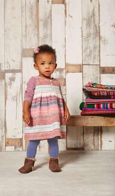 dress for baby - functional front buttons and bloomers for the little ones!