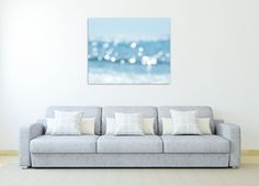 abstract beach photography canvas art nautical by TheGinghamOwl