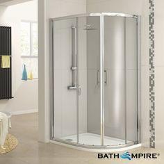 900x760mm - 6mm Glass - Offset Quadrant Shower Enclosure - Basic Range - BathEmpire