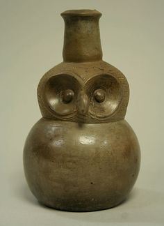 Bottle: Owl, Peru, 12th-15th C