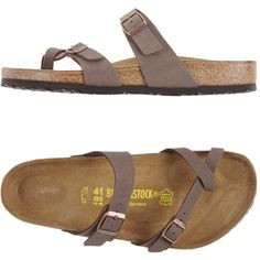 Birkenstock Thong Sandal ($76) ❤ liked on Polyvore featuring men's fashion, men's shoes, men's sandals, light brown, mens buckle shoes, mens flat shoes, birkenstock mens sandals, birkenstock mens shoes and light brown mens dress shoes