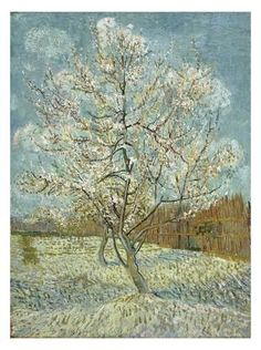 Art Print: The Pink Peach Tree, 1888 by Vincent van Gogh : 30x22in