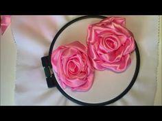 Роза из широкой атласной ленты / Rose from wide satin ribbon - YouTube