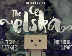 """Check out new work on my @Behance portfolio: """"Elska watercolor brush font"""" http://be.net/gallery/50530881/Elska-watercolor-brush-font"""
