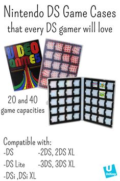 Nintendo Cartridge Game Case, Holds 40 DS or Cartridges Video Game Organization, Video Game Storage, Nintendo Ds Case, Video Game Memes, Video Games, Video Game Collection, Ds Lite, Ds Games, Gamer Gifts