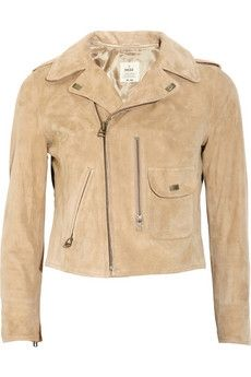 MiH Jeans|Pistol suede biker jacket|NET-A-PORTER.COM - StyleSays
