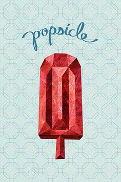 ruby red popsicle via kate spade