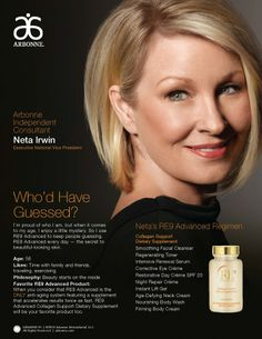 Gorgeous at every age with Arbonne RE9 Advanced Skin Care! https://www.facebook.com/ArbonneCanberra