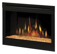 "DFG2562 Dimplex 25"" Electric Fireplace Insert With Glass Ember Bed"