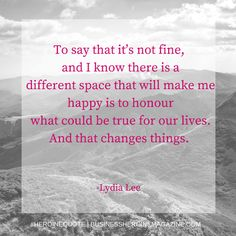 """""""To say it's not fine, and I know there is a different space that will make me happy..."""" -Lydia Lee (Business Heroine) #andshedoes #businessheroine #heroinequotes #inspiration #quote #entrepreneur"""