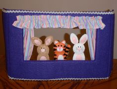 Finger Puppet Table Top Theater. $32.50, via Etsy.