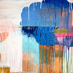 """16"""" x 16"""" x 1.5""""D Birch cradle board. Acrylic painting. Wood Cradle, Raining Cats And Dogs, Still Life, 5 D, Abstract Art, Original Art, Vibrant, Clouds, Landscape"""