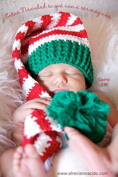 gorros crochet bebes recien nacidos