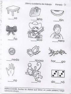 Resultado de imagen para ejercicios de preescolar letras Spanish Teaching Resources, Spanish Activities, Teaching Materials, Kindergarten Activities, Writing Activities, Teachers Corner, School Worksheets, Speech Language Therapy, Elementary Teacher