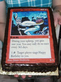 So cool magic the gathering elemental birthday cake gift ideas custom magic the gathering cake chocolate fudge cake torted filled with vanilla buttercream sides iced in chocolate fudge bookmarktalkfo Image collections