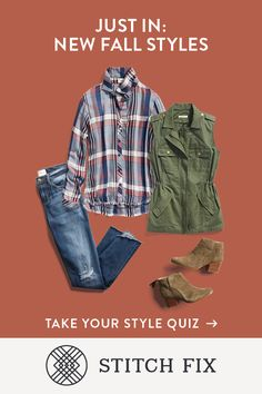Want a cool look for fall? Let your Stitch Fix Stylist pull it together and deliver it right to your doorstep. She knows how to pair brights with neutrals, dressy with distressed—it's all about balancing color and texture. She'll scout the styles while you enjoy the season.