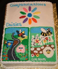 Daisy Journey Patch cake