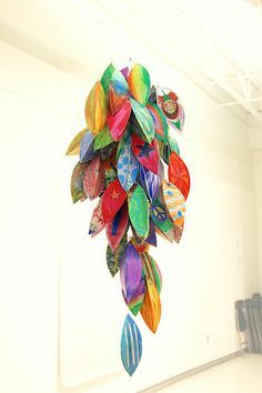 Good collective project for the school to create decorations for the school fair, before the fair (Community Art Project - Racimo by Carlos N. Molina - Paper Art, via Flickr)