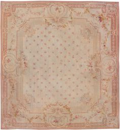 Antique Aubusson French Rug 8515 Detail/Large View - By Nazmiyal