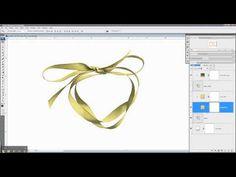 Digital Scrapbooking Tutorial: Adding Color to Digital Scrapbooking Embellishment Templates - YouTube