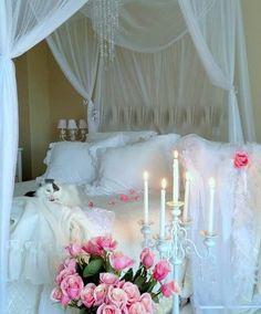 Top 10 Romantic Bedroom Ideas for Anniversary Celebration Shabby chic bedroom.