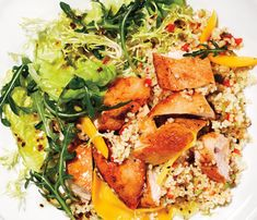 Mango Chicken Salad with Couscous #SelfMagazine