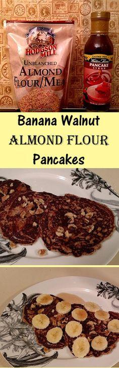 Banana Walnut Almond Flour Pancakes #glutenfree #wheatfree #breakfast