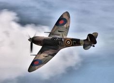 A pissed off Pole in a Spitfire was a deadly combo. Spitfire, RAF No.317 Polish Sqn.